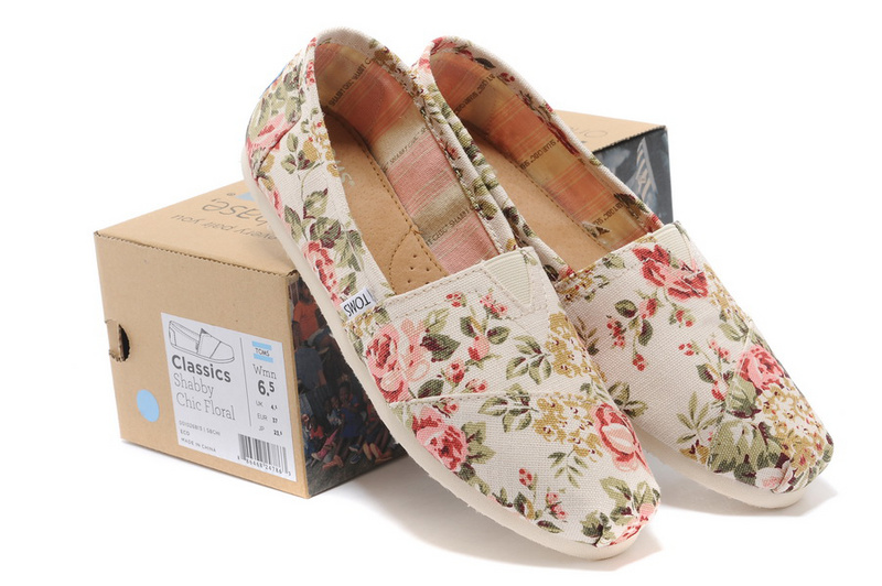 Toms shabby chic floral women's classics