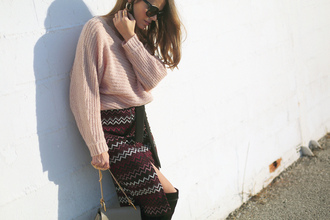 seams for a desire blogger sweater skirt shoes bag sunglasses jewels dress