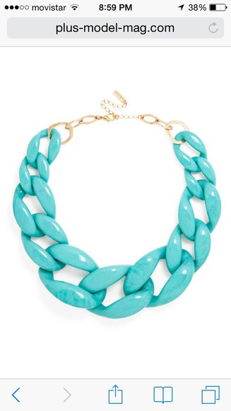 jewels chain tiffany blue acrylic plastic