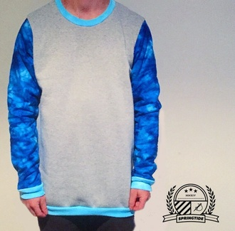 sweater trendy igers apparel autumn australia surf style skateboard streetwear springtide apparel fmx jumper comfy clothingline bmx crew neck blue grey aqua mens women's fashion fashion killer mx
