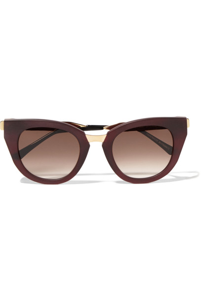 Thierry Lasry matte sunglasses gold burgundy