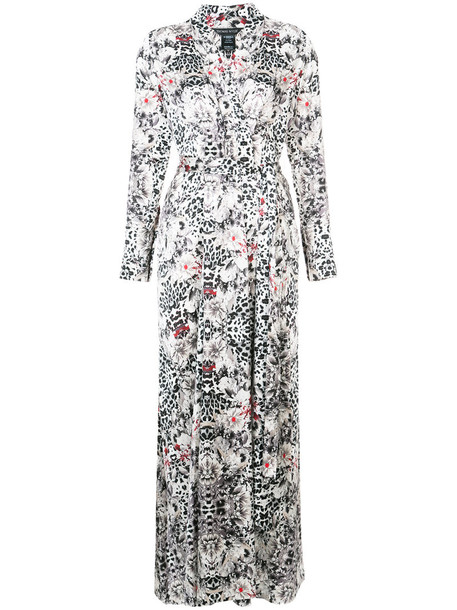 Thomas Wylde dress maxi dress summer maxi indian women spandex silk grey