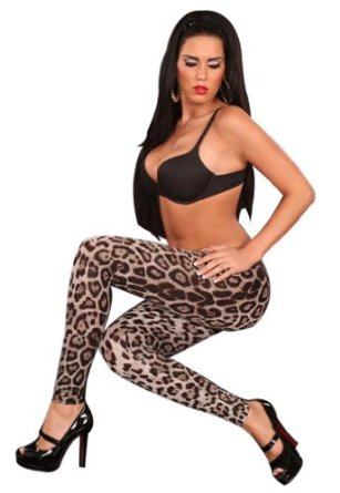 Amazon.com: Amour- Sexy Leggings Fashion Trendy Popular Leopard Print Tights Pants M/xl: Clothing