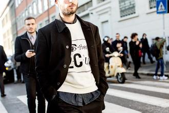 mens sweater menswear streetstyle mens jacket fashion week 2015