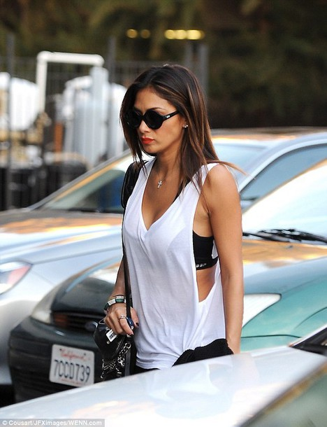 blouse white tank top