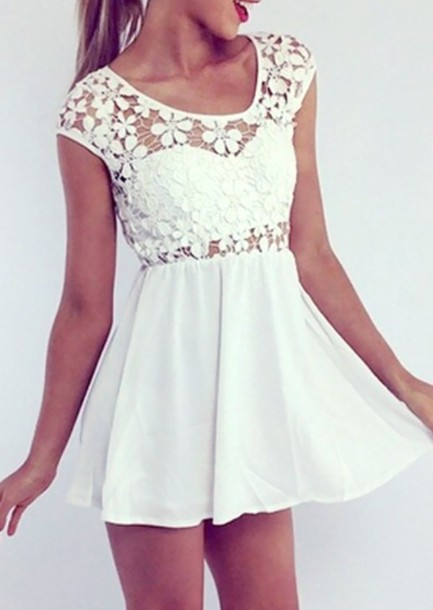 dress white cute indie pretty tumblr hipster