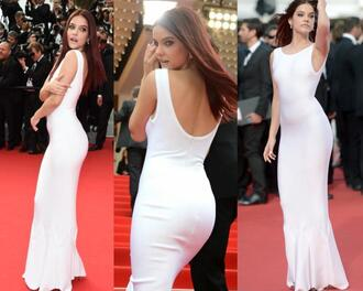 barbara palvin dress barbara palvin the search premiere dress the search premiere 2014 cannes film festival dress barbara palvin white dress barbara palvin