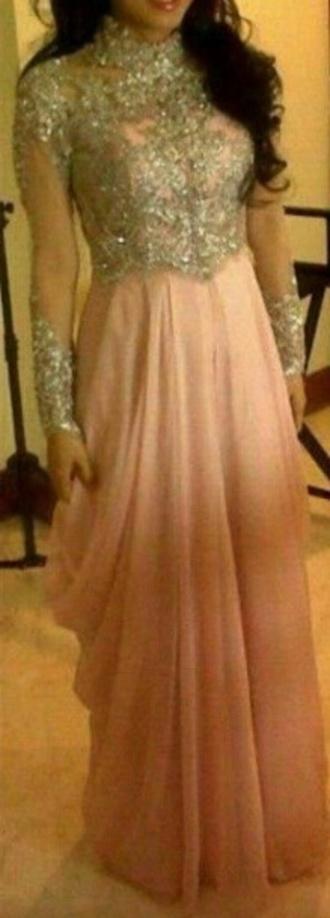 dress peach/pink long kaftan lace dress green dress pink dress pink green prom dress abaya cute hot maxi dress maxi maxi skirt