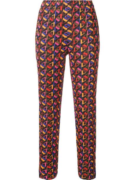Pleats Please By Issey Miyake cropped women geometric print pants
