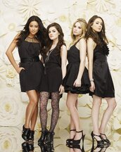 underwear,dress,shoes,heels,tights,jewlrey,pretty little liars
