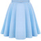 Solid color high waist pleated cute skirt