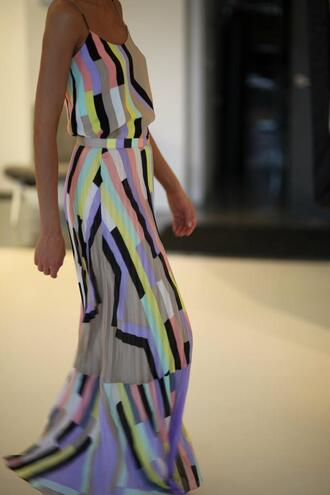 maxi dress colorblock maxi colorblock dress dress fashion cute dress fashion toast fashion vibe