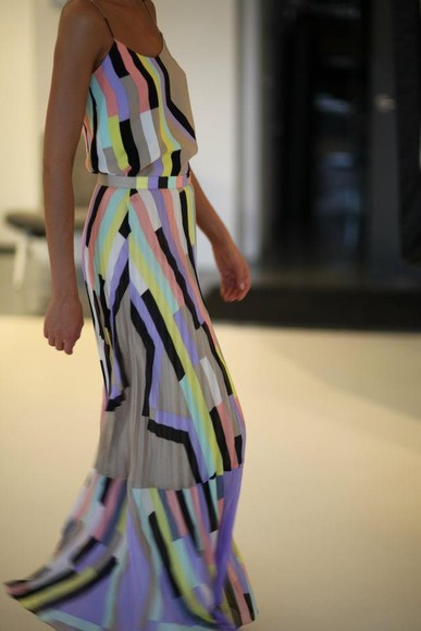 maxi dress colorblock maxi colorblock dress summer maxi dress fashion cute dress fashion toast fashion vibe