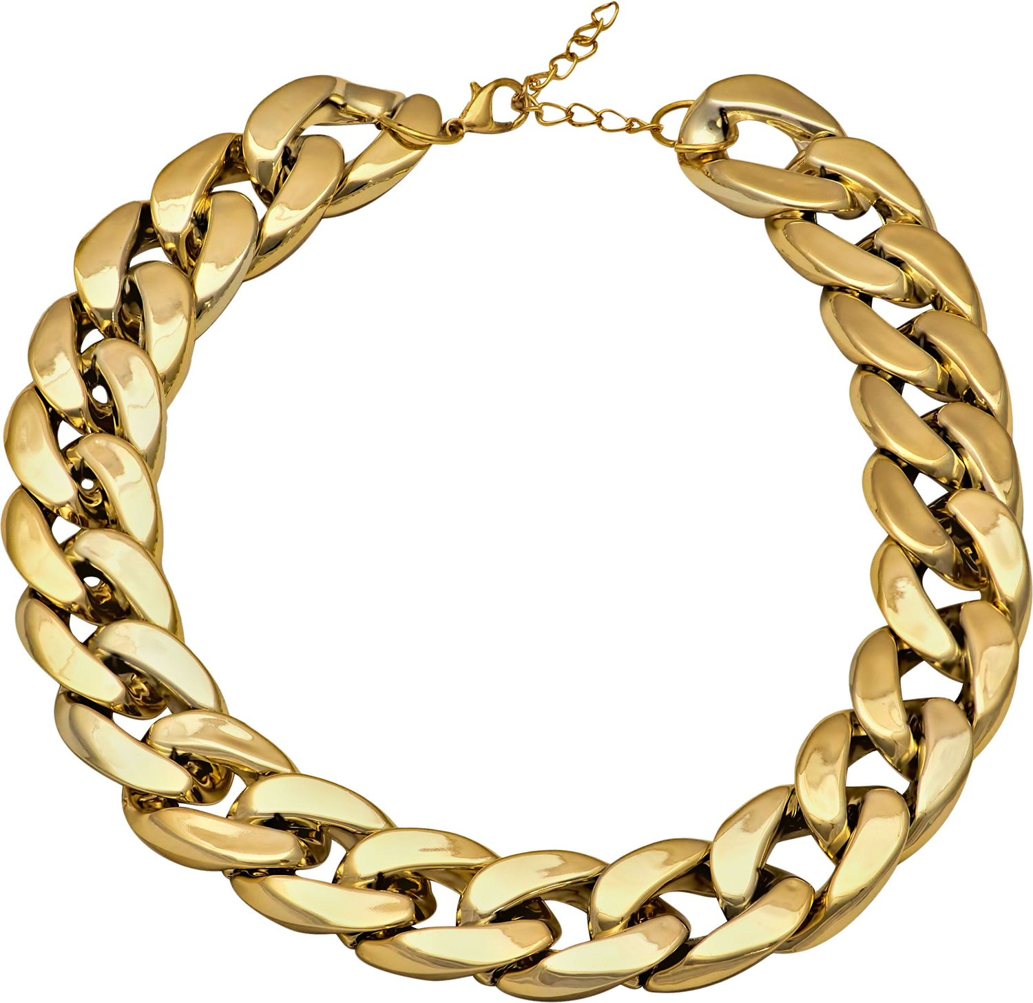 Amazon.com: Gold Tone Thick Chunky Chain Link Celebrity Inspired Choker Style Statement Necklace: Jewelry