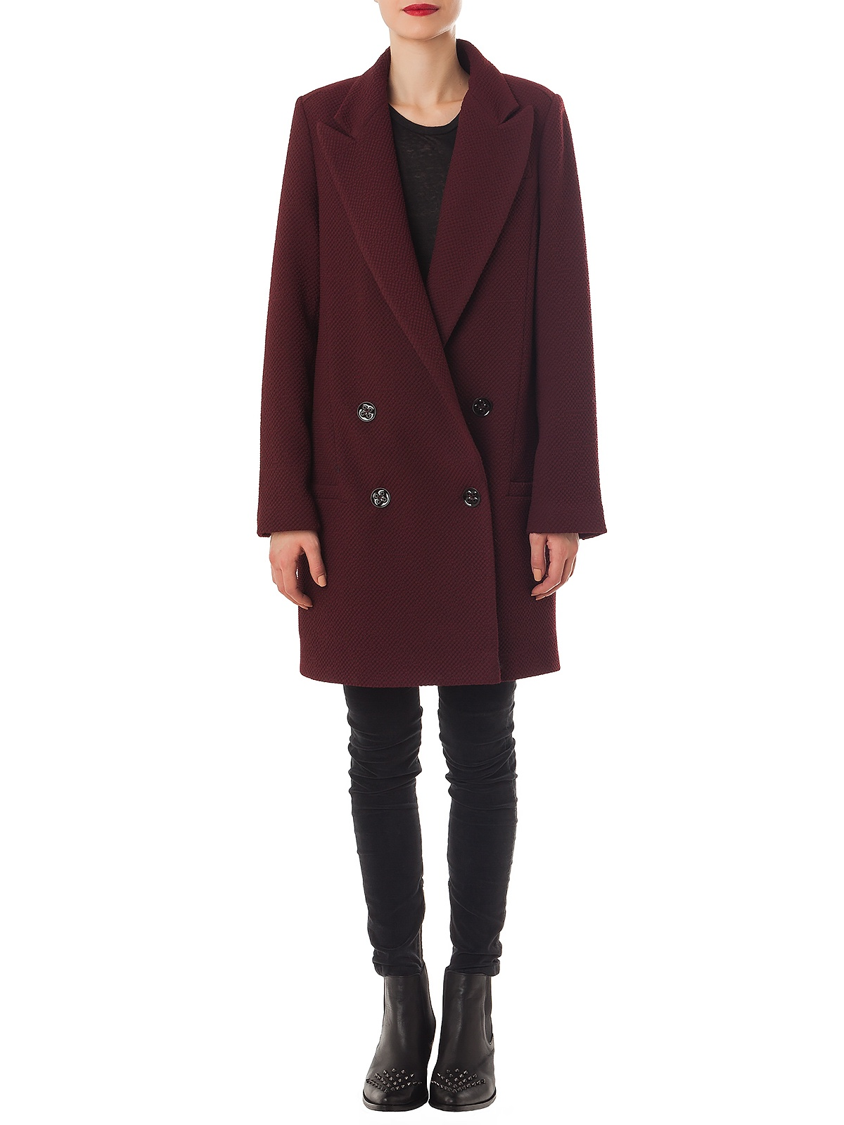 LISSETT BURGUNDY COAT | GIRISSIMA.COM - Collectible fashion to love and to last