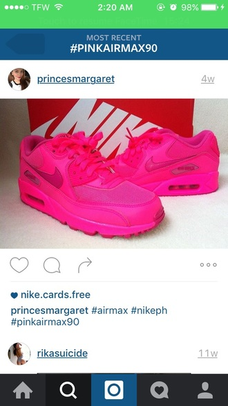shoes nike air max 90 pink