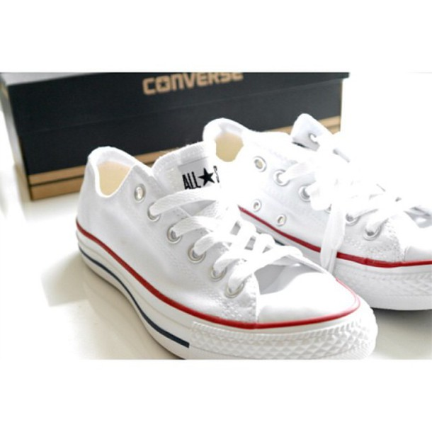 ac030df5f75c shoes white white converse white shoes red blue converse converse low tops converse  low rise multi