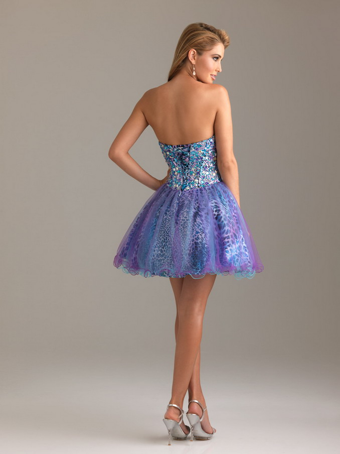 Purple And Blue Short Prom Dresses - Long Dresses Online