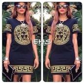 versace t shirt,versace,versace dress,dress,summer dress,summer outfits,clothes