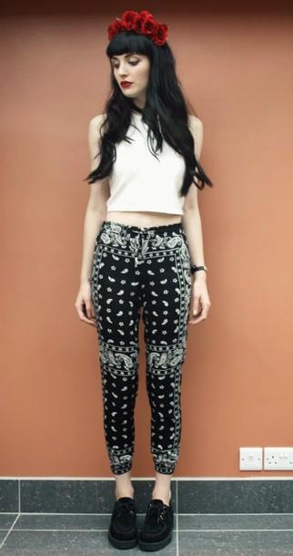 one in a million pants t-shirt jewels shoes bandana print