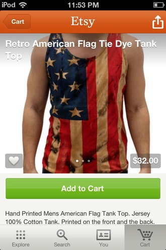 tank top american flag american print tank top retro