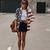 American National Flat Long Sleeve Blouse - OASAP.com