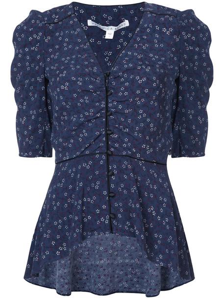 blouse women blue top