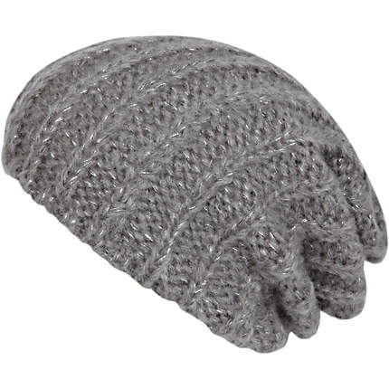 Grey rib beanie hat - accessories - sale - women