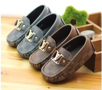 shoes baby lv moccasins