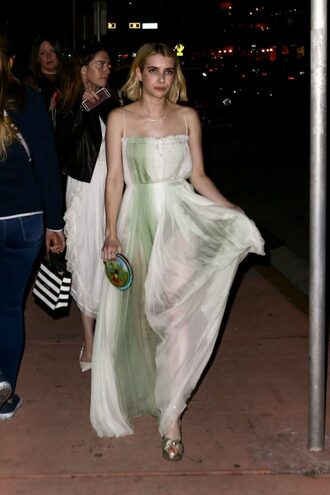 shoes sandals maxi dress emma roberts