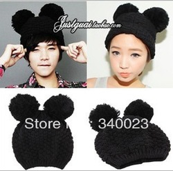 Online Shop Hot Sale! Free Shipping! New Mickey ears cute wool knitted hat female fashion autumn winter men women Beanie, H31|Aliexpress Mobile