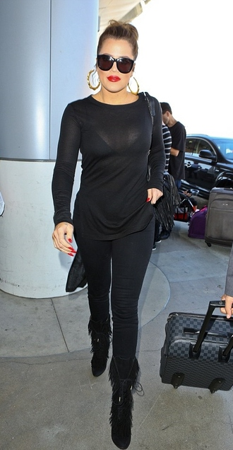 top blouse pants jeans khloe kardashian
