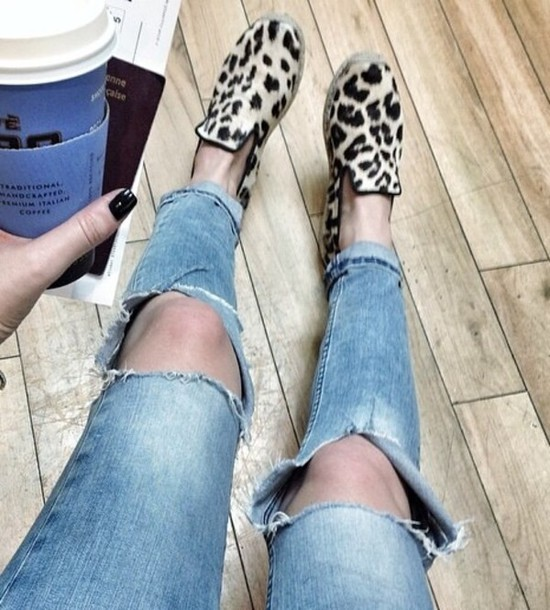shoes leopard loafers slippers nude