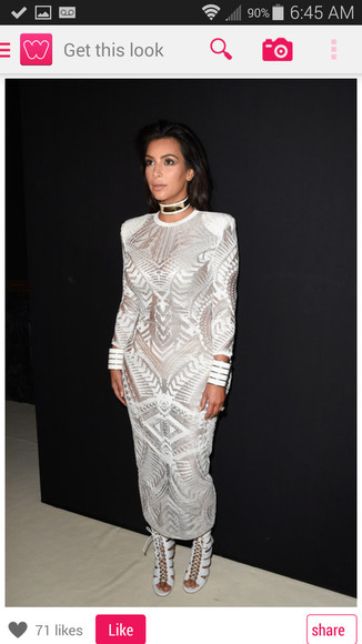 lace dress white dress kim kardashian dress tribal pattern