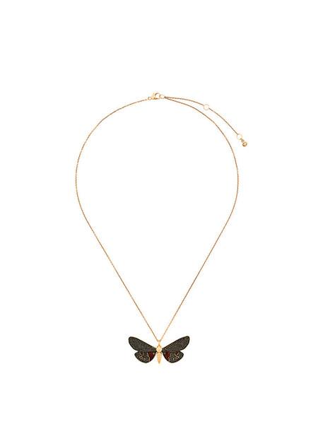 women tiger necklace gold black jewels