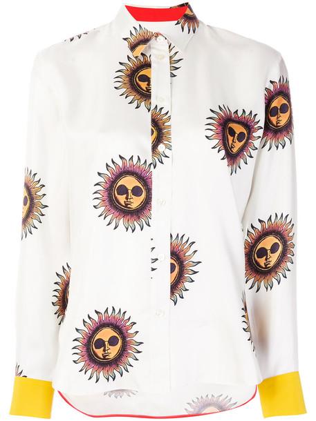 Paul Smith shirt printed shirt women white silk top