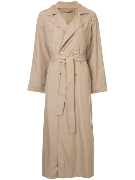 Cityshop - oversized trench coat - women - Polyester - 38, Brown, Polyester