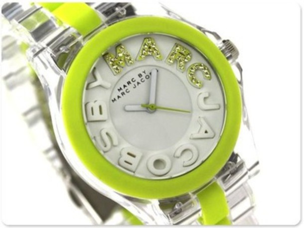 jewels watch green clear marc jacobs