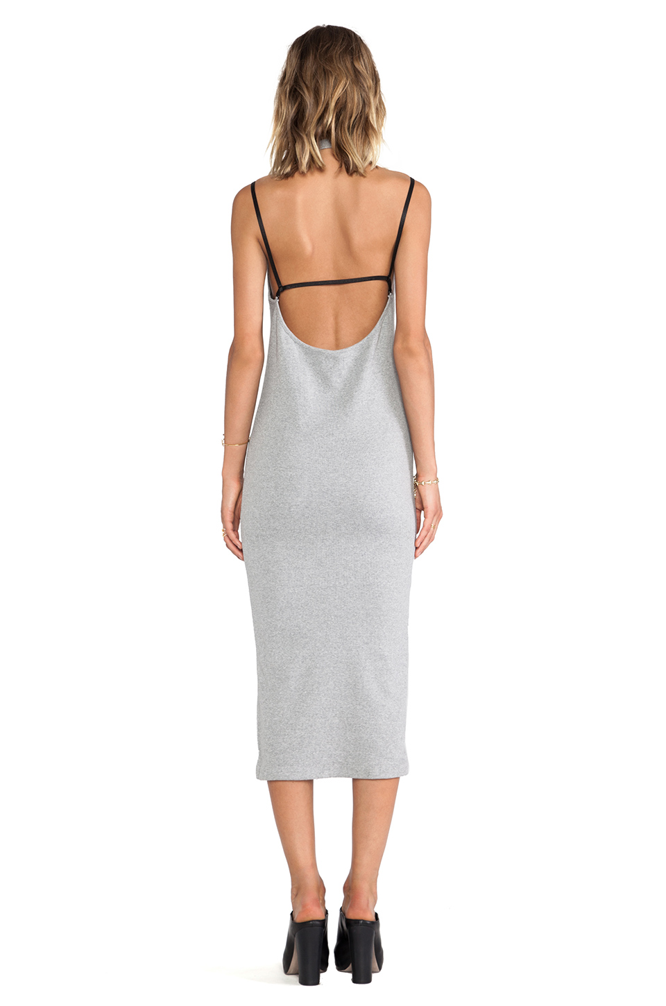 Cheap Monday Back Dress in Grey Melange | REVOLVE