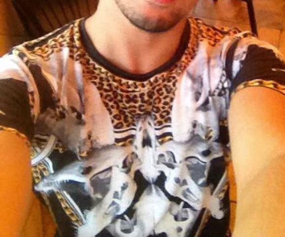 t-shirt leopard print criminal damage