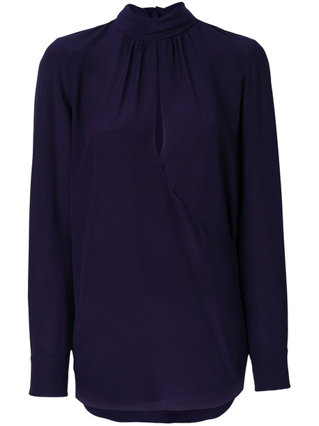 Chloe blouse women silk purple pink top