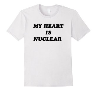 t-shirt my heart is nuclear grunge black tumblr fashion quote on it alternative summer pretty hipster cool swag instagram clothes