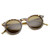 Dapper Key Hole Vintage Horned Rim Round Circle Indie Sunglasses 8943                           | zeroUV