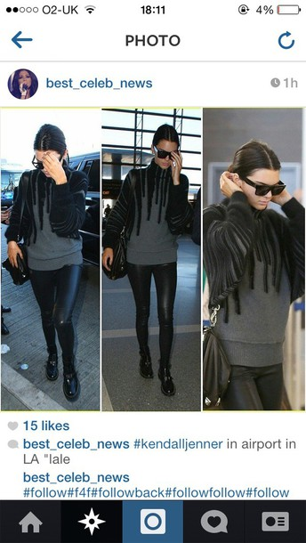 kendall jenner grey sweater sweater