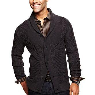 sweater j.ferrar black sweater mens cardigan