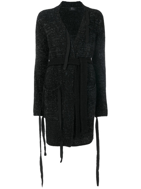 Lost & Found Ria Dunn - knitted long cardigan - women - Nylon/Viscose/Mohair/Wool - XS, Black, Nylon/Viscose/Mohair/Wool