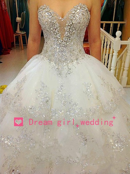wedding events, bridal ball gown, ball gown dress, heavy beaded ...