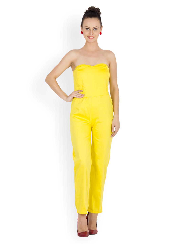 Liebemode Women Yellow Tube Jumpsuit - 421 - Apparel for Women