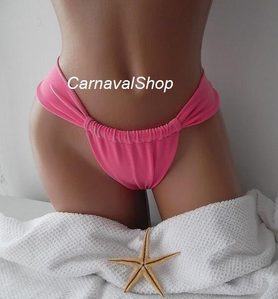 Pink Brazilian bikini bottoms tie bikini bottom by CarnavalShop