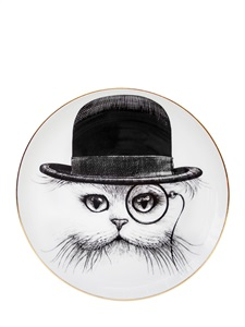 LUISAVIAROMA.COM - RORY DOBNER - CAT IN THE HAT BONE CHINA DINNER PLATE